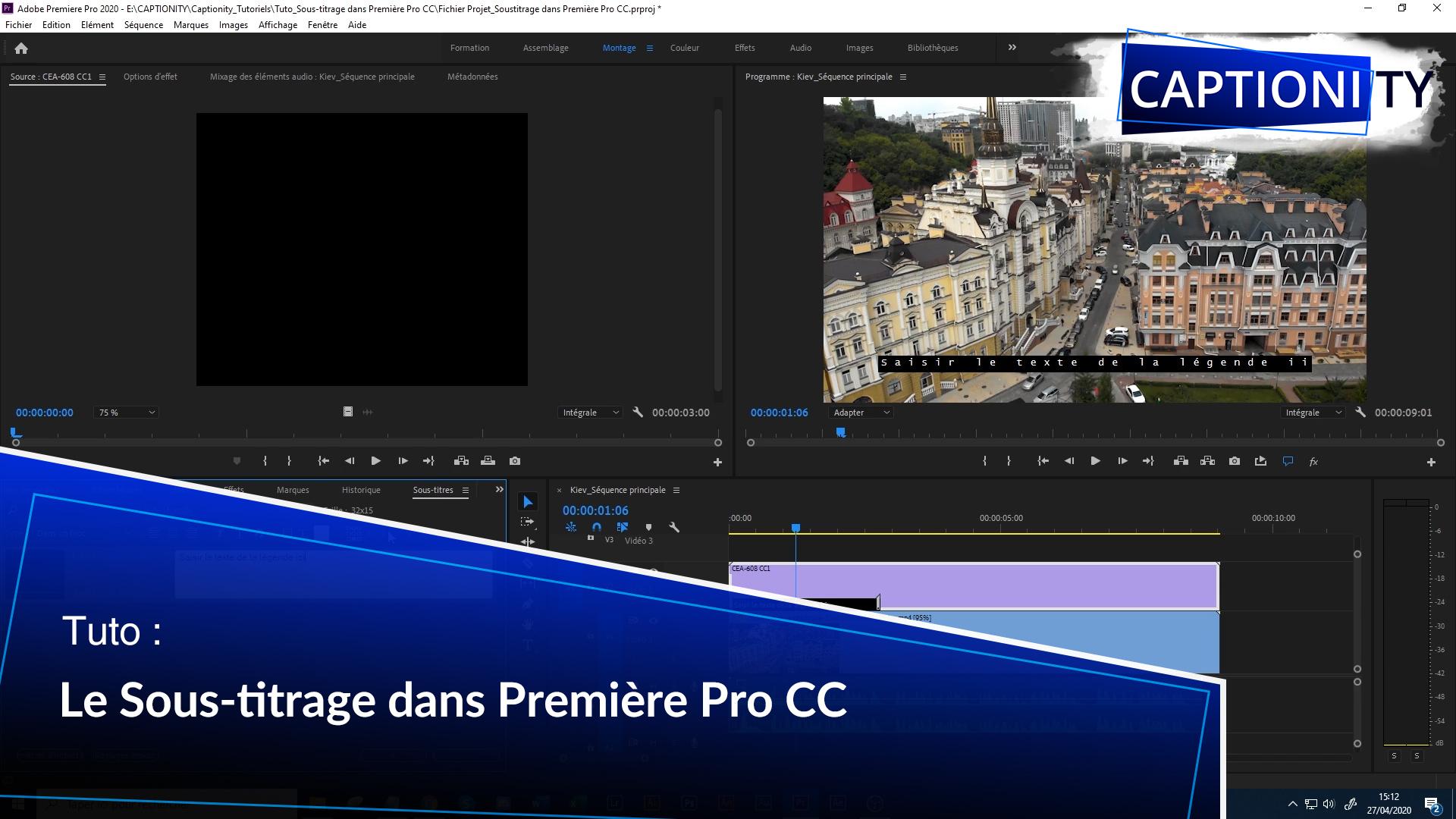 Le sous-titrage dans Première Pro et dans l'audiovisuel